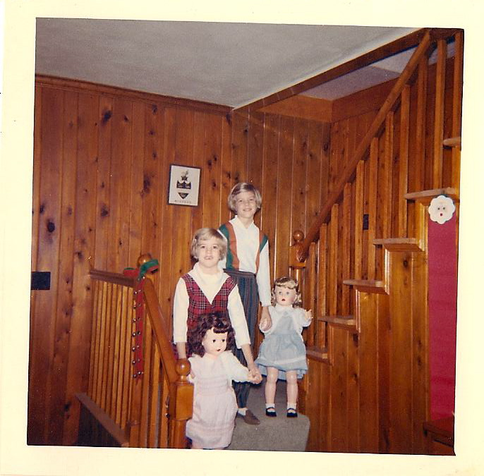 """Christmas in the 60's with our """"walking doll"""" gifts from Dis and Rudolph"""